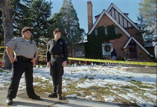 Cadets guarding the crime scene